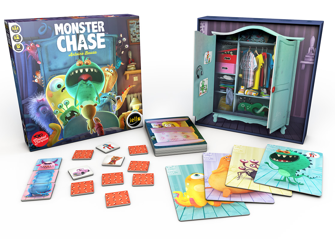 Monster Chase box and contents